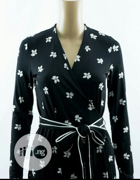 Archive: Marks and Spencer Floral Print Black Wrap Dress Size 22 UK ✌️👍❤️