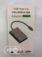 Type C to VGA-HDMI-USB Converter | Accessories & Supplies for Electronics for sale in Lagos State, Lagos Island