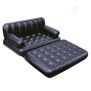 Bestway 5 In 1 Inflatable Sofa Bed- Black Electric Pump | Furniture for sale in Lagos State, Abule Egba