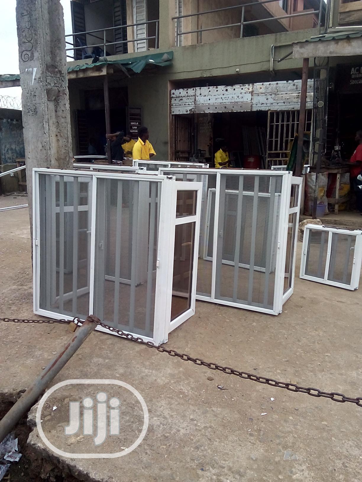3-in-1 Aluminium WINDOW + NET + Iron-rod BURGLARY Proof | Windows for sale in Ewekoro, Ogun State, Nigeria