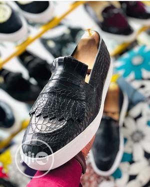 Casual Skin Leather Loafers With White Sport Sole   Shoes for sale in Lagos State, Amuwo-Odofin