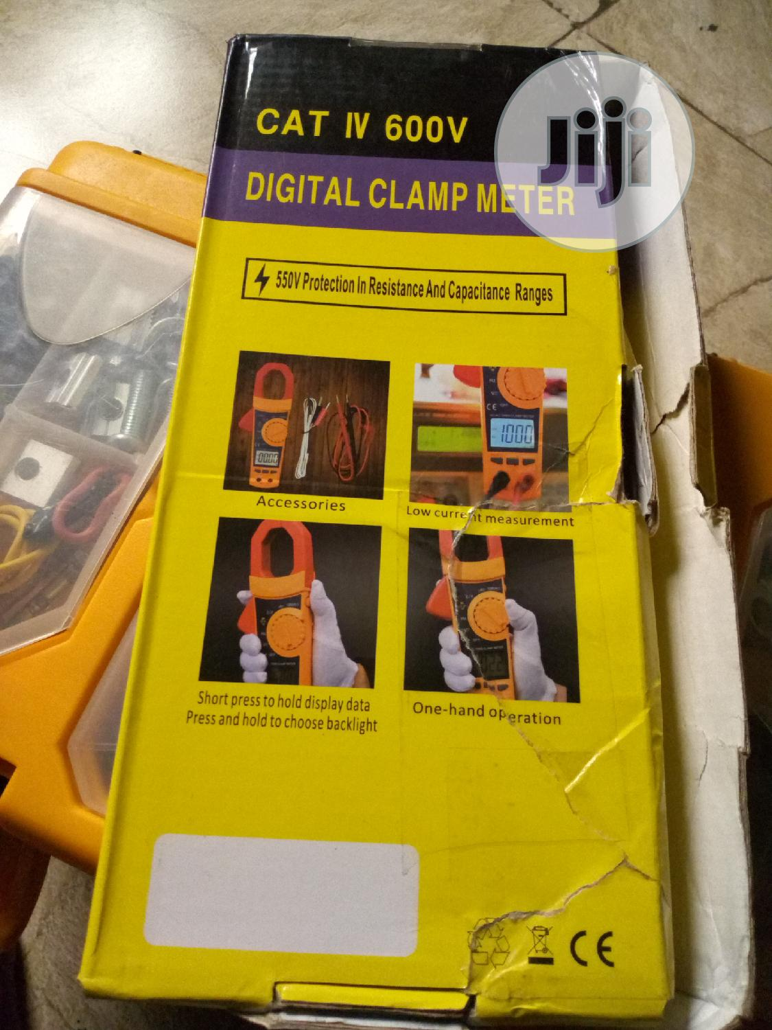 AC-DC Digital Clamp Meter With True RMS,600V Max, 1200A Max | Measuring & Layout Tools for sale in Ikeja, Lagos State, Nigeria
