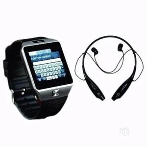 Android Smartwatch With LG Tone+ Bluetooth Stereo Earpiece | Smart Watches & Trackers for sale in Lagos State, Ikeja