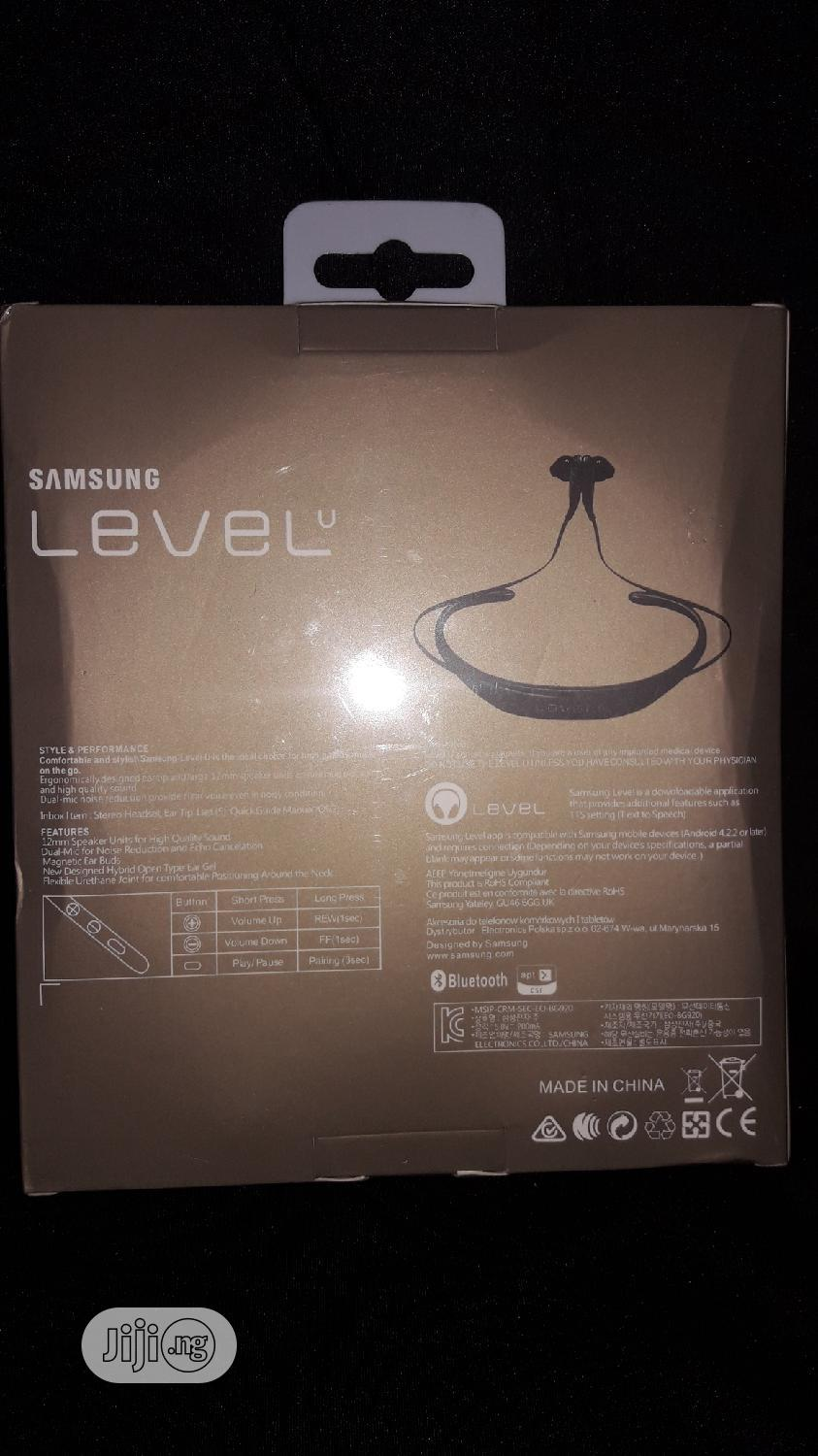 Samsung Level U Bluetooth Stereo Headset   Accessories for Mobile Phones & Tablets for sale in Ikotun/Igando, Lagos State, Nigeria