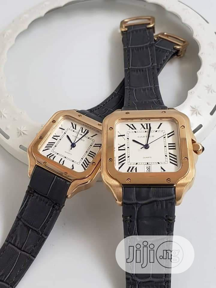 Cartier Leather Wrist Watch Man And Woman