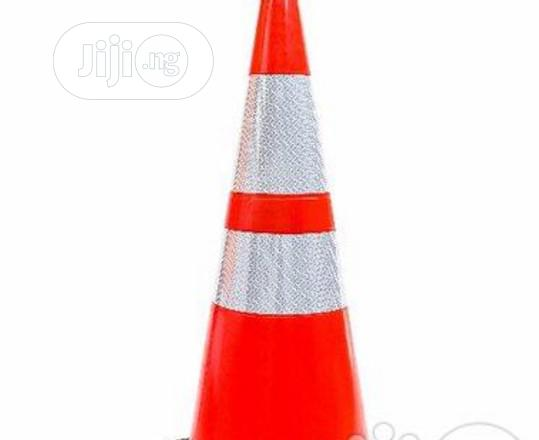 "28"" Orange Safety Traffic PVC Cones With Two Reflective By Hsl"