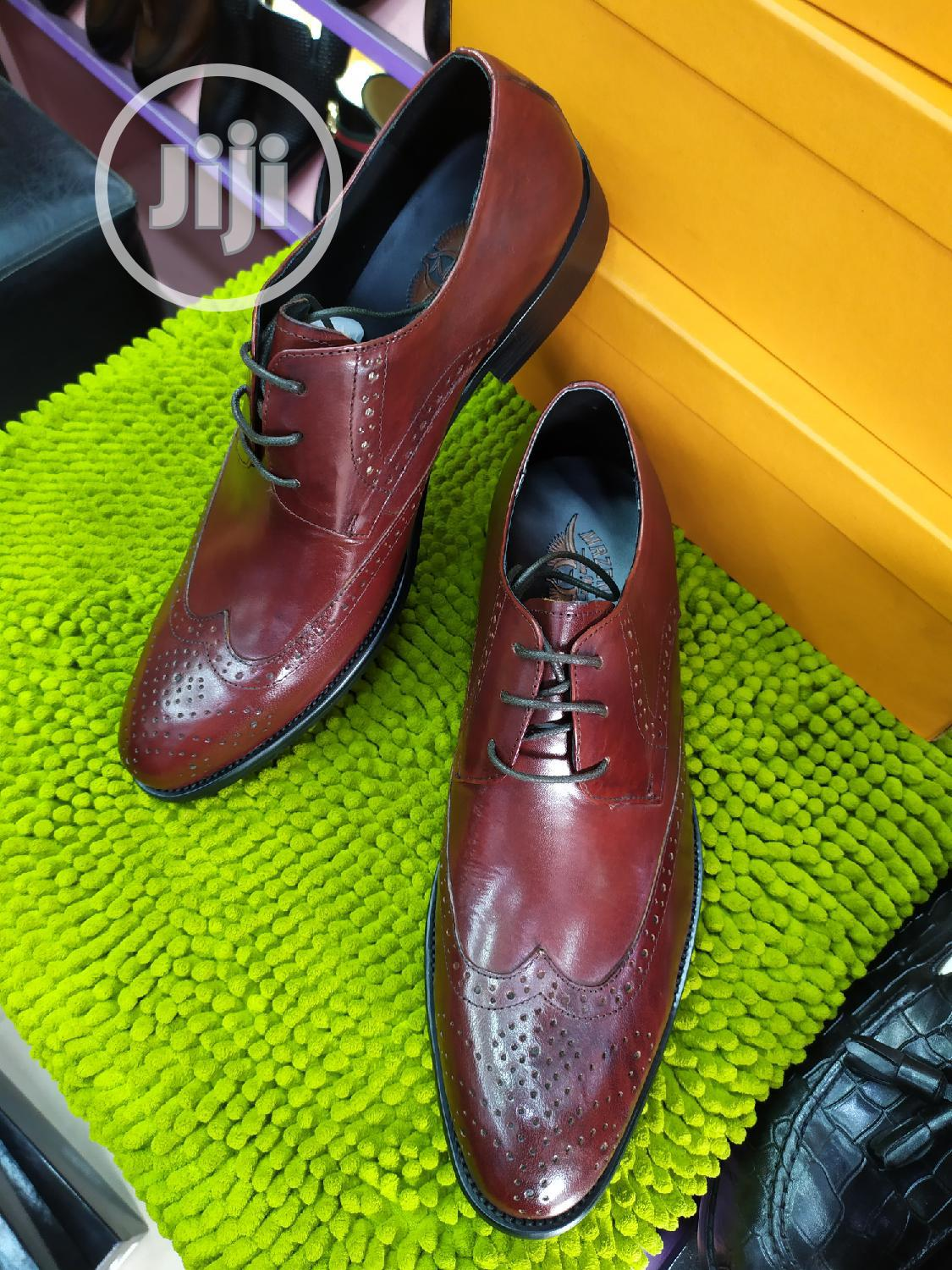 Toney Brown Leather Lace Shoes