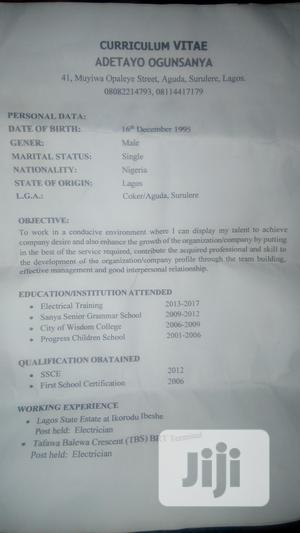 Electrical Installation And Maintainance Work   Construction & Skilled trade CVs for sale in Lagos State, Surulere