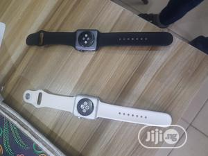 London Used White Apple Atch Series 3 42mm4 Gps Cellular | Smart Watches & Trackers for sale in Oyo State, Ibadan