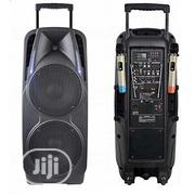 Double PA System - Bluetooth Speaker With 2 Mic, USB &FM | Audio & Music Equipment for sale in Lagos State, Ojo