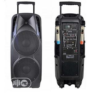 Double PA System - Bluetooth Speaker With 2 Mic, USB &FM   Audio & Music Equipment for sale in Lagos State, Ojo