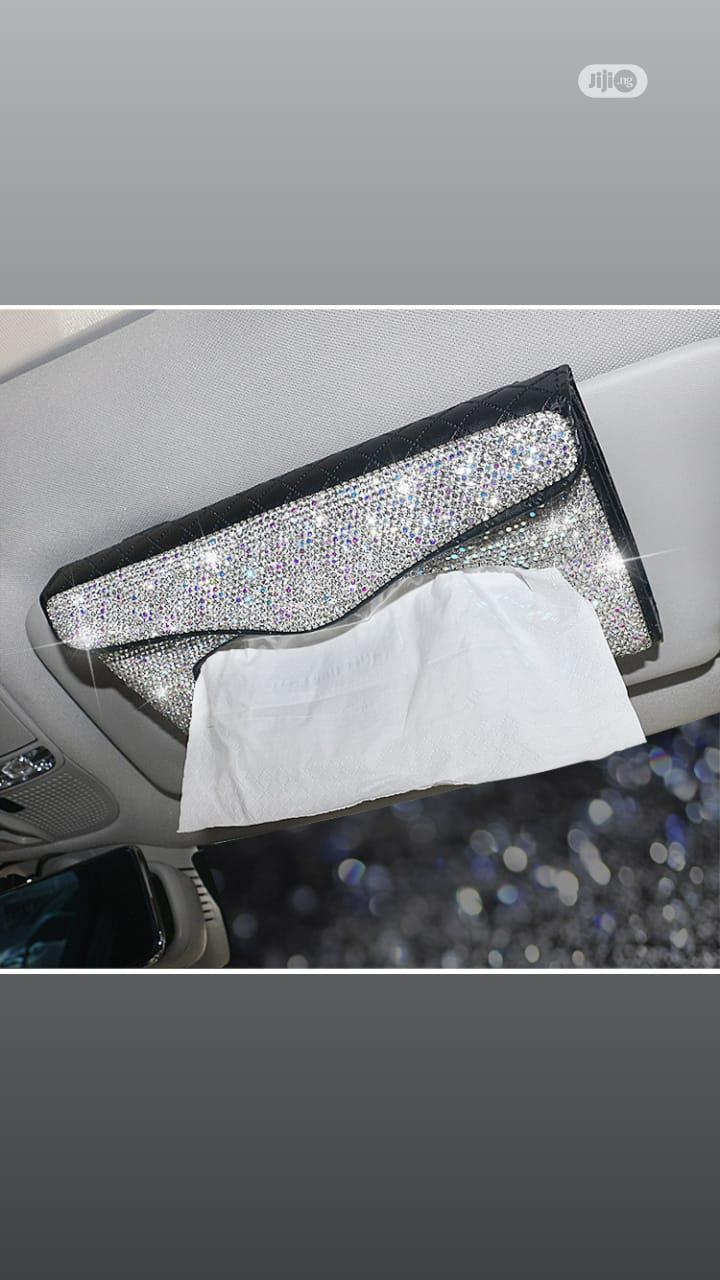 Diamond Entrusted Fashoinable Sun Shade Tissue Box | Vehicle Parts & Accessories for sale in Wuse 2, Abuja (FCT) State, Nigeria