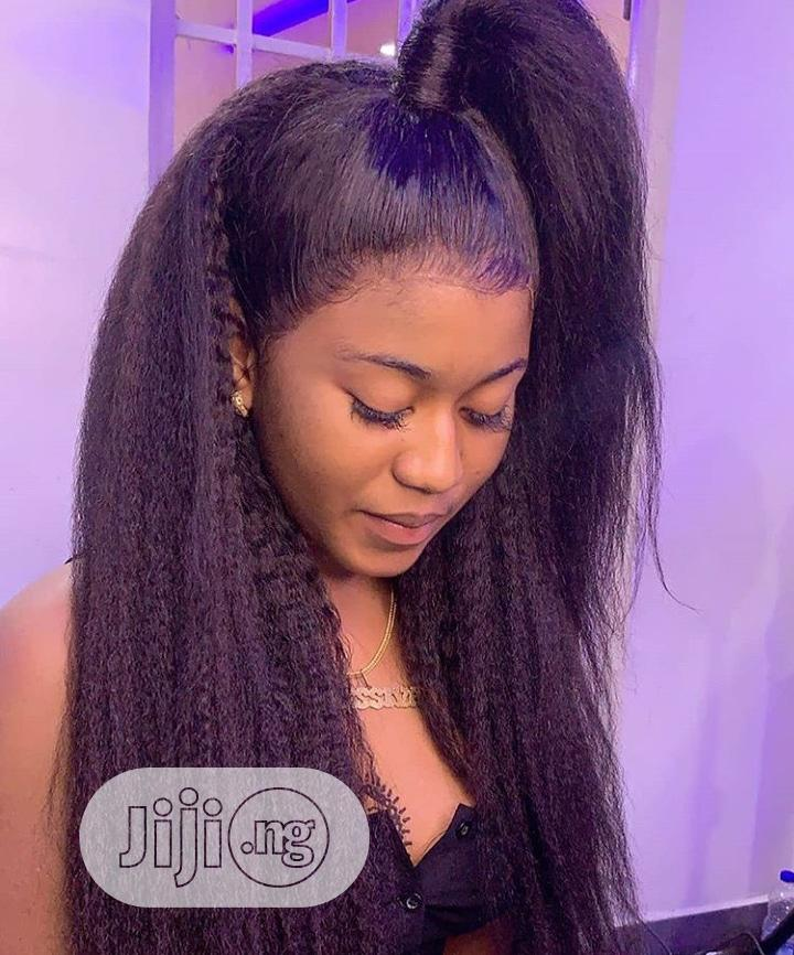 Brazilian Kinky Straight Hair, 18inches With 360 Closure