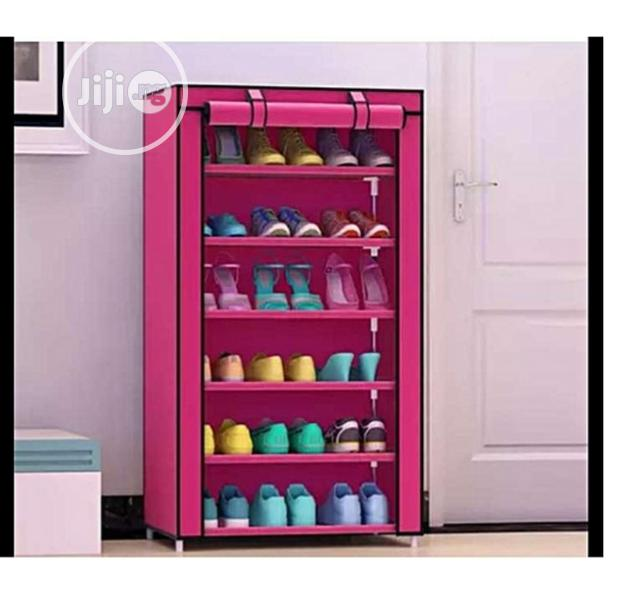 Shoes Rack With A Fabric Cover