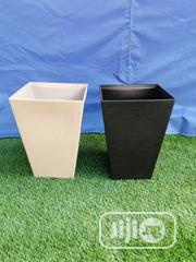 Adorable White And Black Flower Planter For Sale   Garden for sale in Enugu State, Igbo Eze South