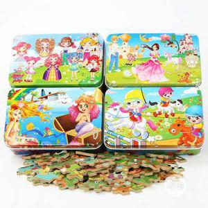 Wooden Puzzle Cartoon - 4 Set - 60 Piece Par Set | Toys for sale in Oyo State, Akinyele
