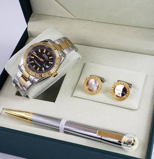 Rolex Oyster Perpetual Gold/Silver Chain Watch and Pen/Cufflinks | Watches for sale in Lagos State, Lagos Island (Eko)
