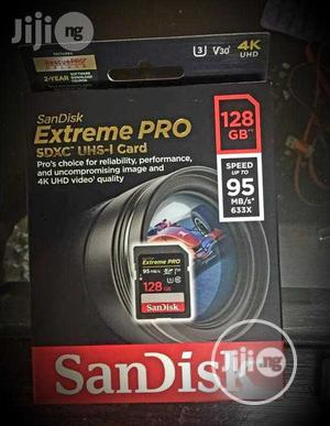 Sandisk Extreme Pro 128GB Memory Card. 4k UHD | Accessories & Supplies for Electronics for sale in Lagos State, Ojo