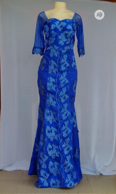 Royal Blue Plus Size Women's Dinner/Evening Gown - Size 14/15