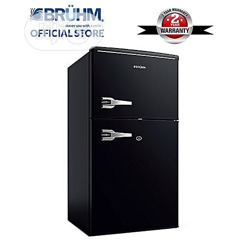 Archive: Bruhm 95 Liters Double Door Fridge - BRD-120 (Retro Black)