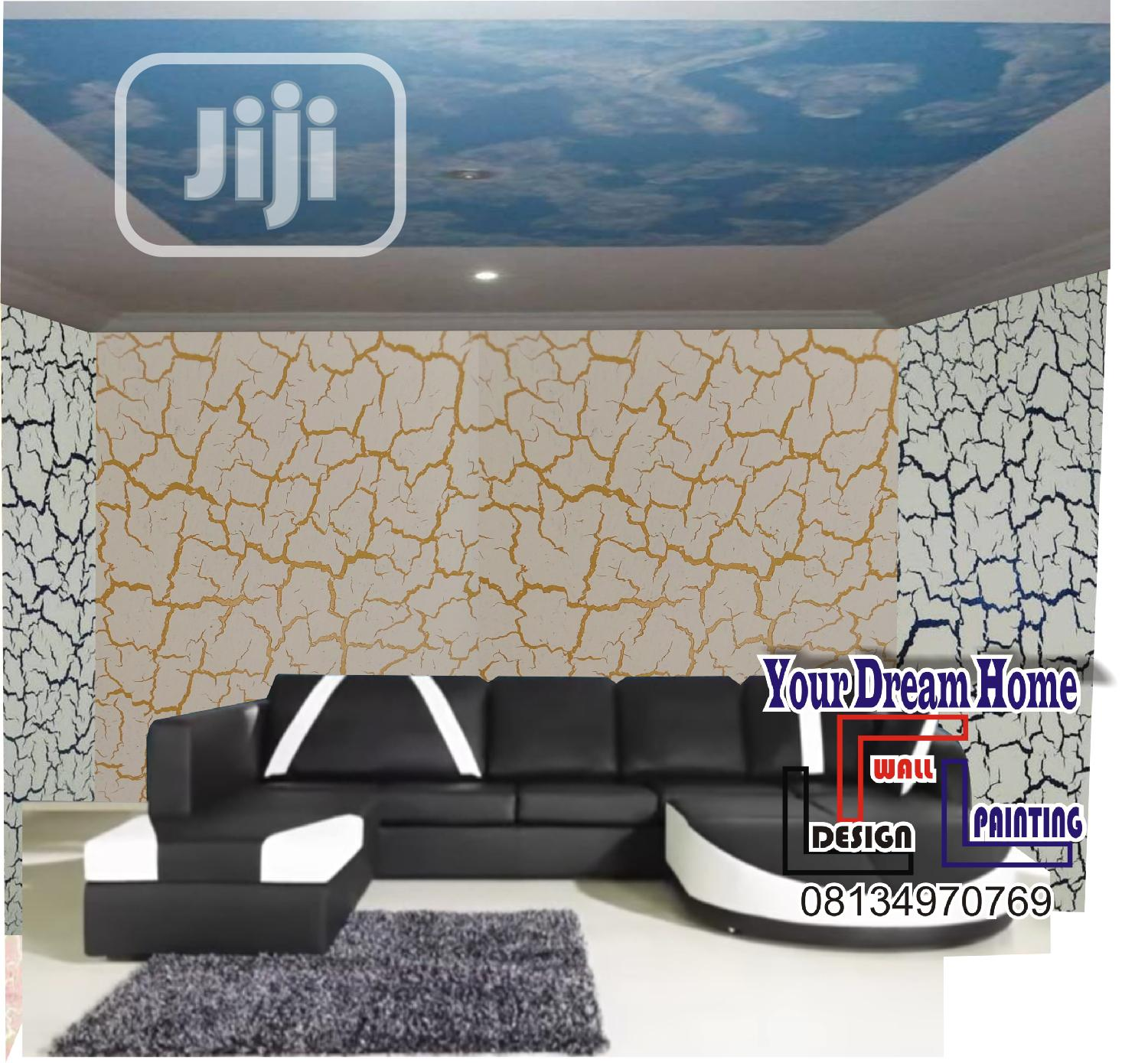 Design Painting ( Crackle Decorative Painting) | Building & Trades Services for sale in Wuse 2, Abuja (FCT) State, Nigeria