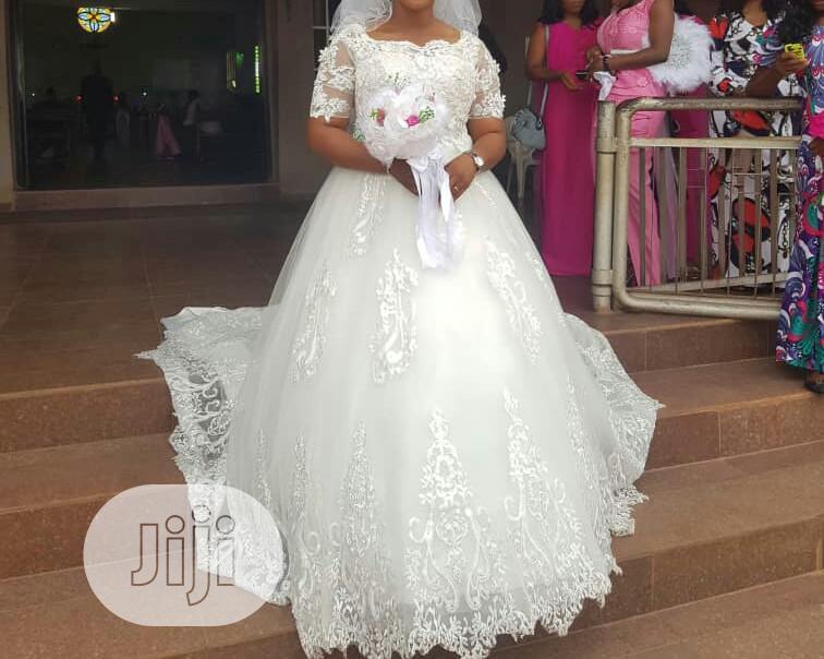 Rent 3/4 Sleeve Ball Gown Wedding Dress