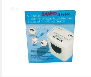 20L Sanyo Sbs 620c 5-sheet Cross Cut Electric Paper & Cd Shredder | Stationery for sale in Lagos State, Ikeja
