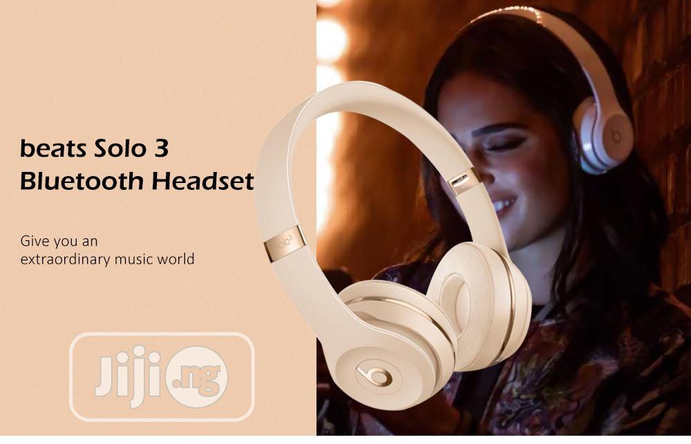Beats Solo 3 Wireless Bluetooth On-ear Headset - Multi   Headphones for sale in Ikeja, Lagos State, Nigeria