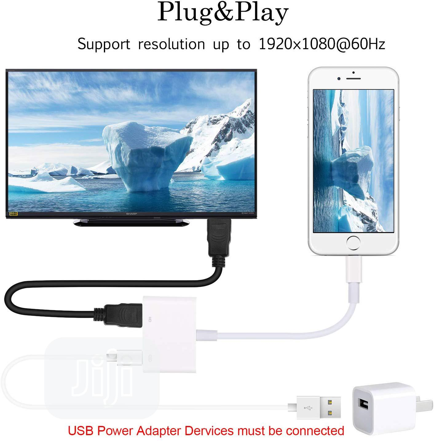 Lightning To HDMI & AV Adaptpers + Apple Charging Ports | Accessories for Mobile Phones & Tablets for sale in Ikeja, Lagos State, Nigeria