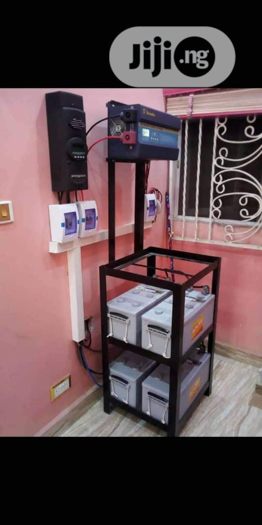 Solar Deep Cycle Battery + Inverter + Controller With Installation.