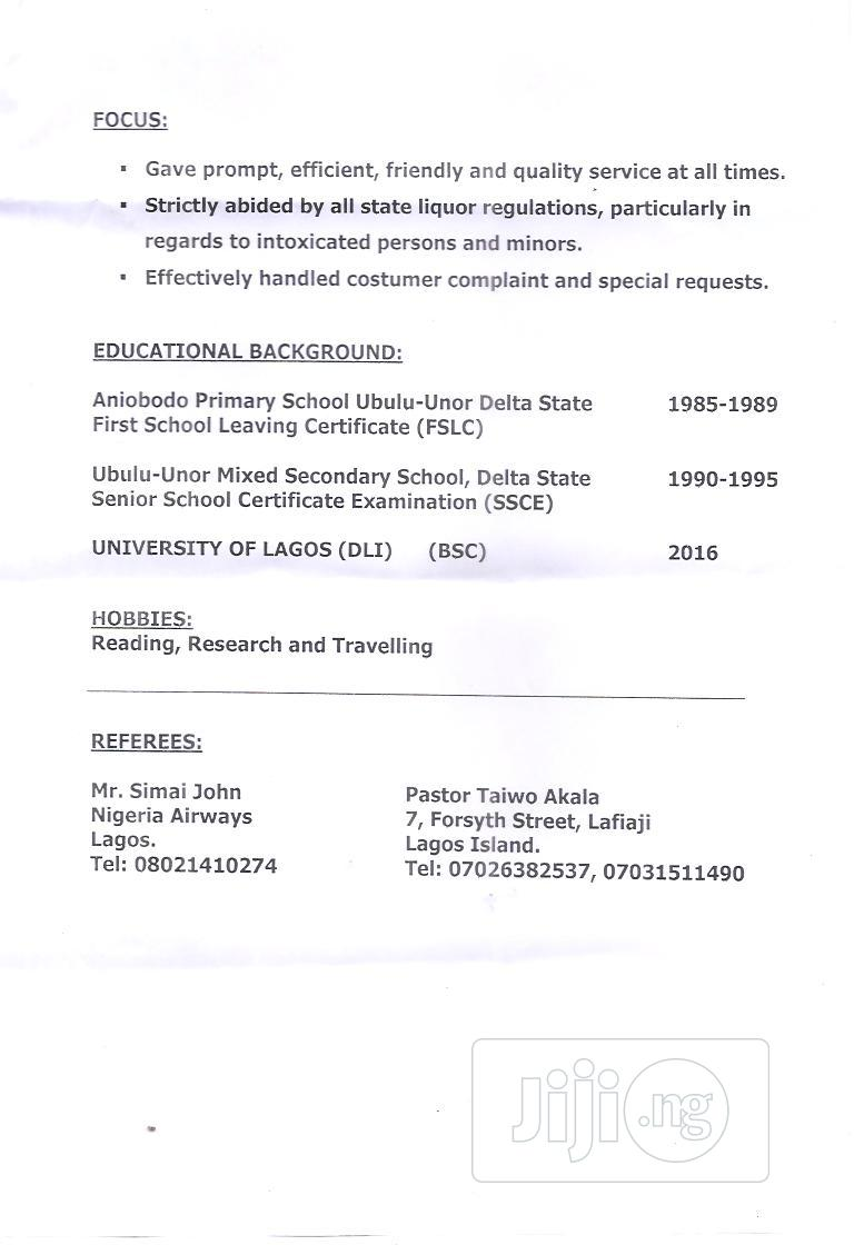 Professional | Hotel CVs for sale in Victoria Island, Lagos State, Nigeria