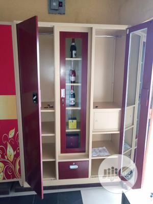 High Quality Full Height Metal Cabinet With Bar   Furniture for sale in Lagos State, Ikoyi