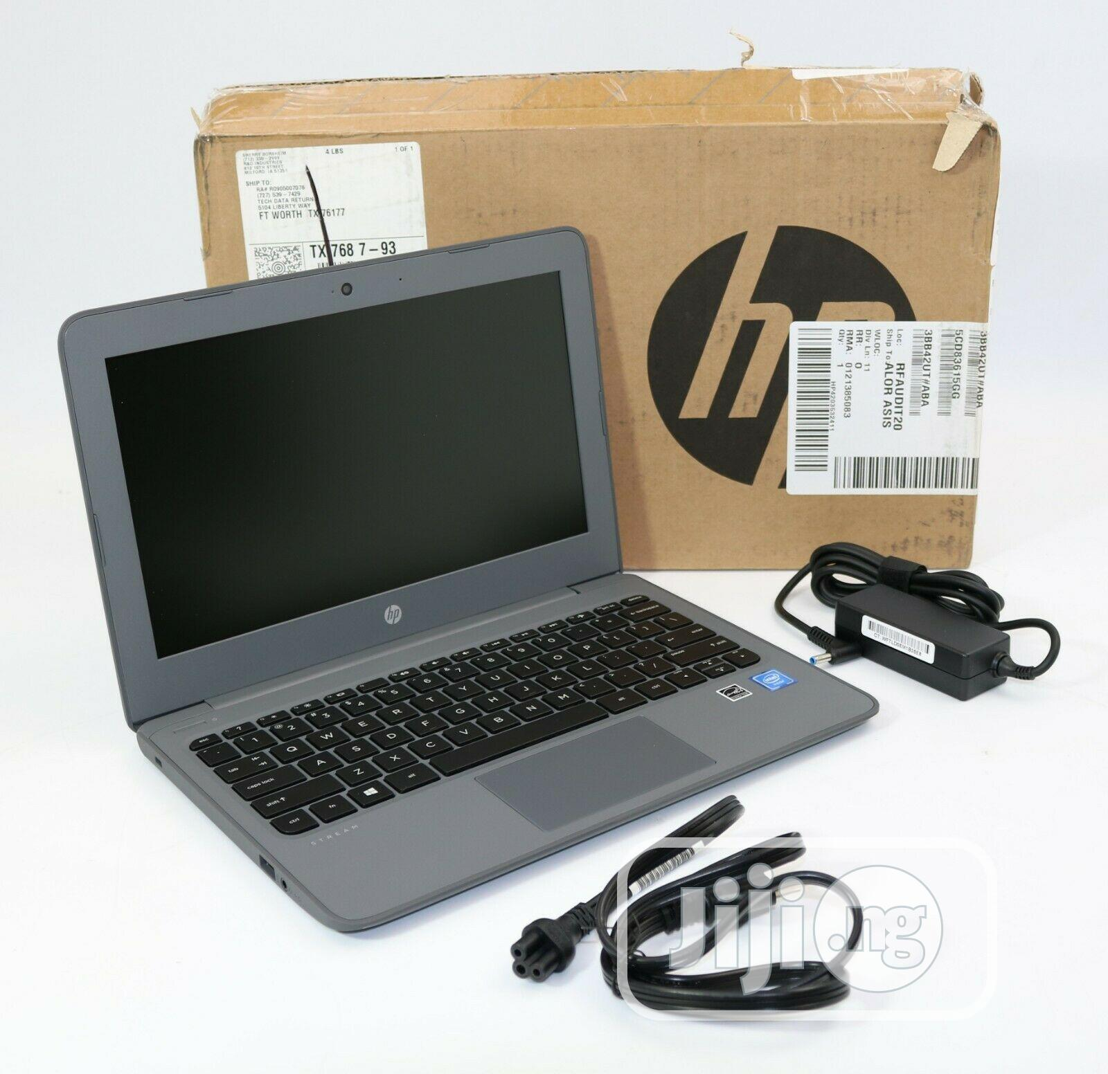 New Laptop HP Stream 11 Pro G4 EE 4GB Intel Celeron SSD 60GB | Laptops & Computers for sale in Ikeja, Lagos State, Nigeria