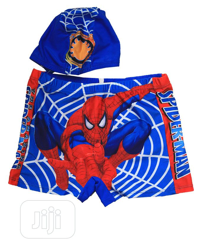Complete Boys Swimming Pant With Cap -blue, Red And Multi | Children's Clothing for sale in Ojota, Lagos State, Nigeria