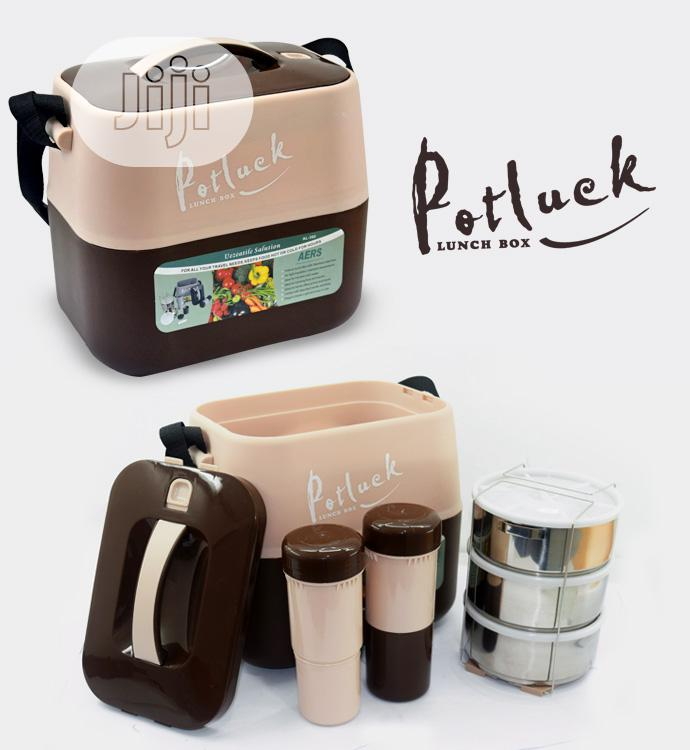 Potluck Insulated Food Flask With Stainless Steel Liner | Kitchen & Dining for sale in Owerri, Imo State, Nigeria