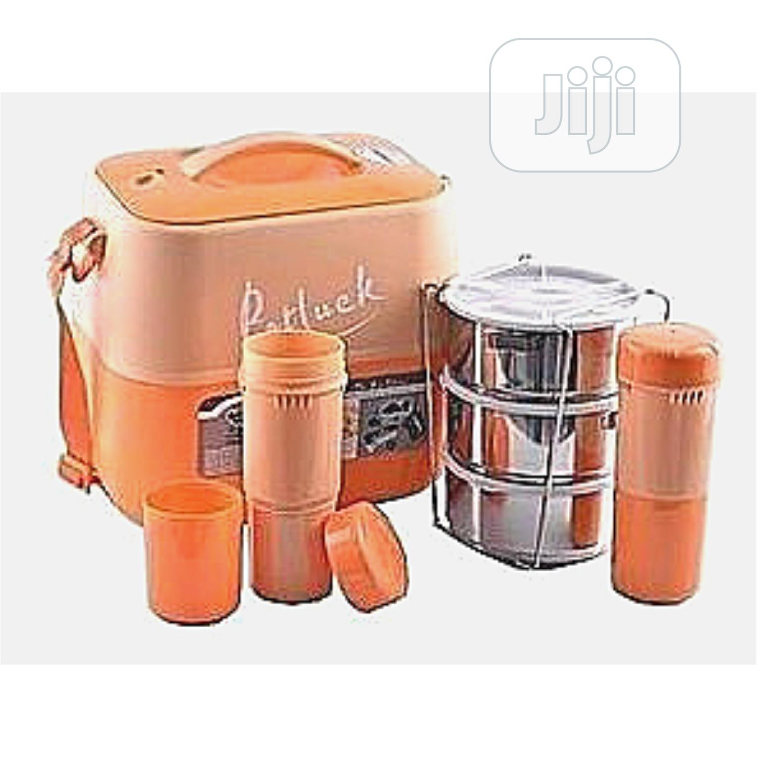 Potluck Insulated Food Flask With Stainless Steel Liner