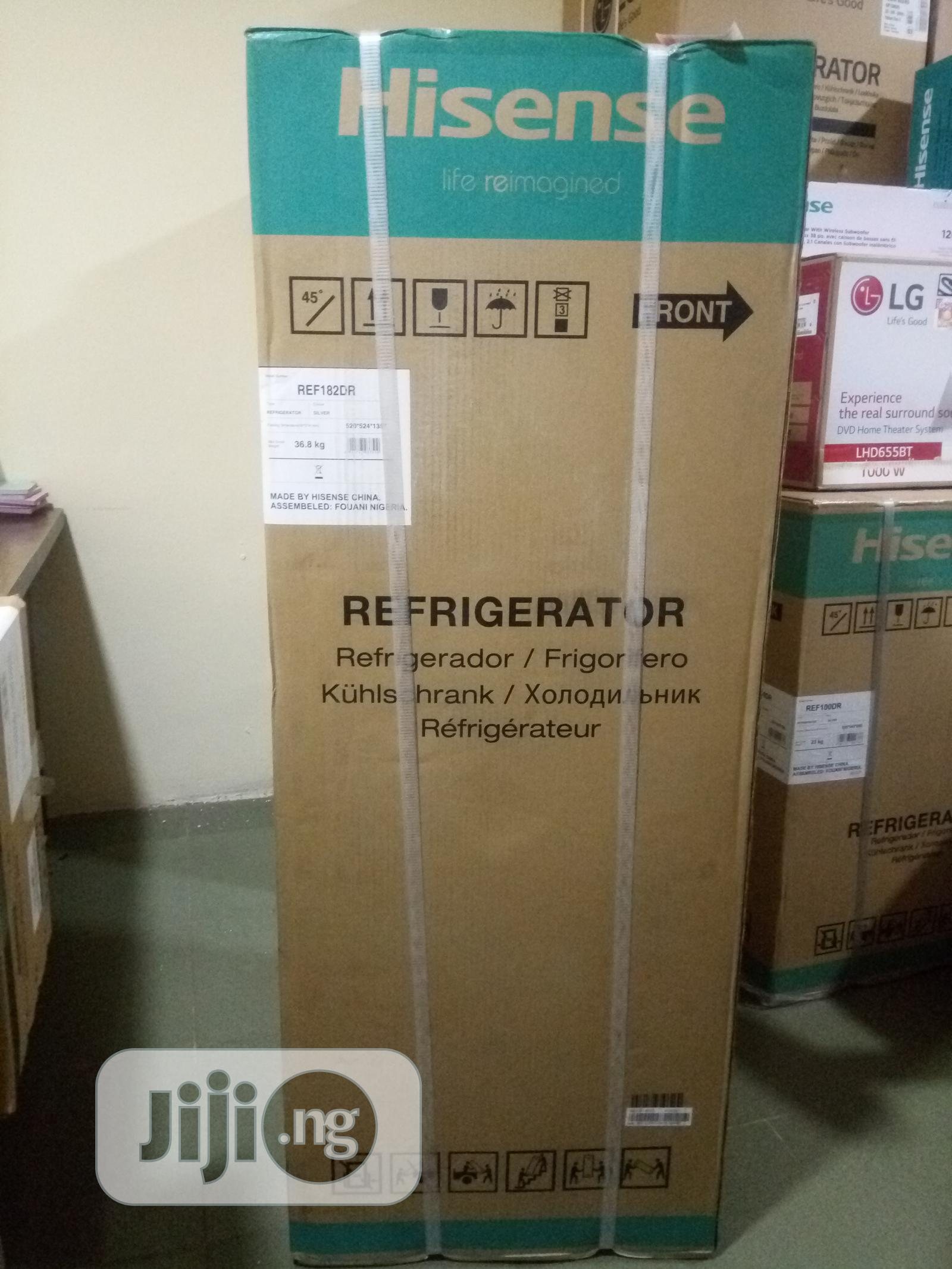 Hisense Refrigerator 130l Double Door Ref-182dr (Visit Www.Reco.Ng) | Kitchen Appliances for sale in Central Business Dis, Abuja (FCT) State, Nigeria