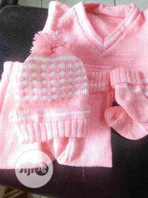 Baby Sweater With Trouser and Baby Cap | Children's Clothing for sale in Lagos State, Lagos Island (Eko)