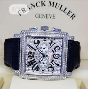 Franck Muller Chronograph Full Ice Silver Leather Strap Watch   Watches for sale in Lagos State, Lagos Island (Eko)