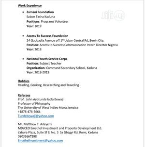 Free Work Visa   Travel & Tourism CVs for sale in Kaduna State, Chikun