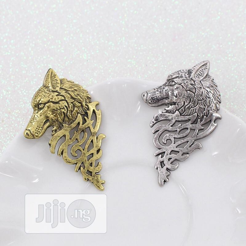 Wolf Brooch Vintage Punk Unisex | Jewelry for sale in Surulere, Lagos State, Nigeria