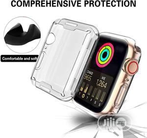 Clear Case for Apple Watch With Built-In TPU Screen Protector | Smart Watches & Trackers for sale in Lagos State, Ikeja