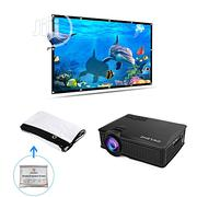 Owlenz Multimedia LED Projector + Simple Projection Screen   TV & DVD Equipment for sale in Oyo State, Ibadan