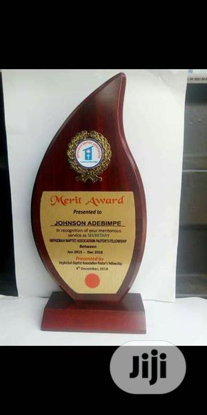Wooden Plaque Award With Printing   Arts & Crafts for sale in Lagos State, Lekki