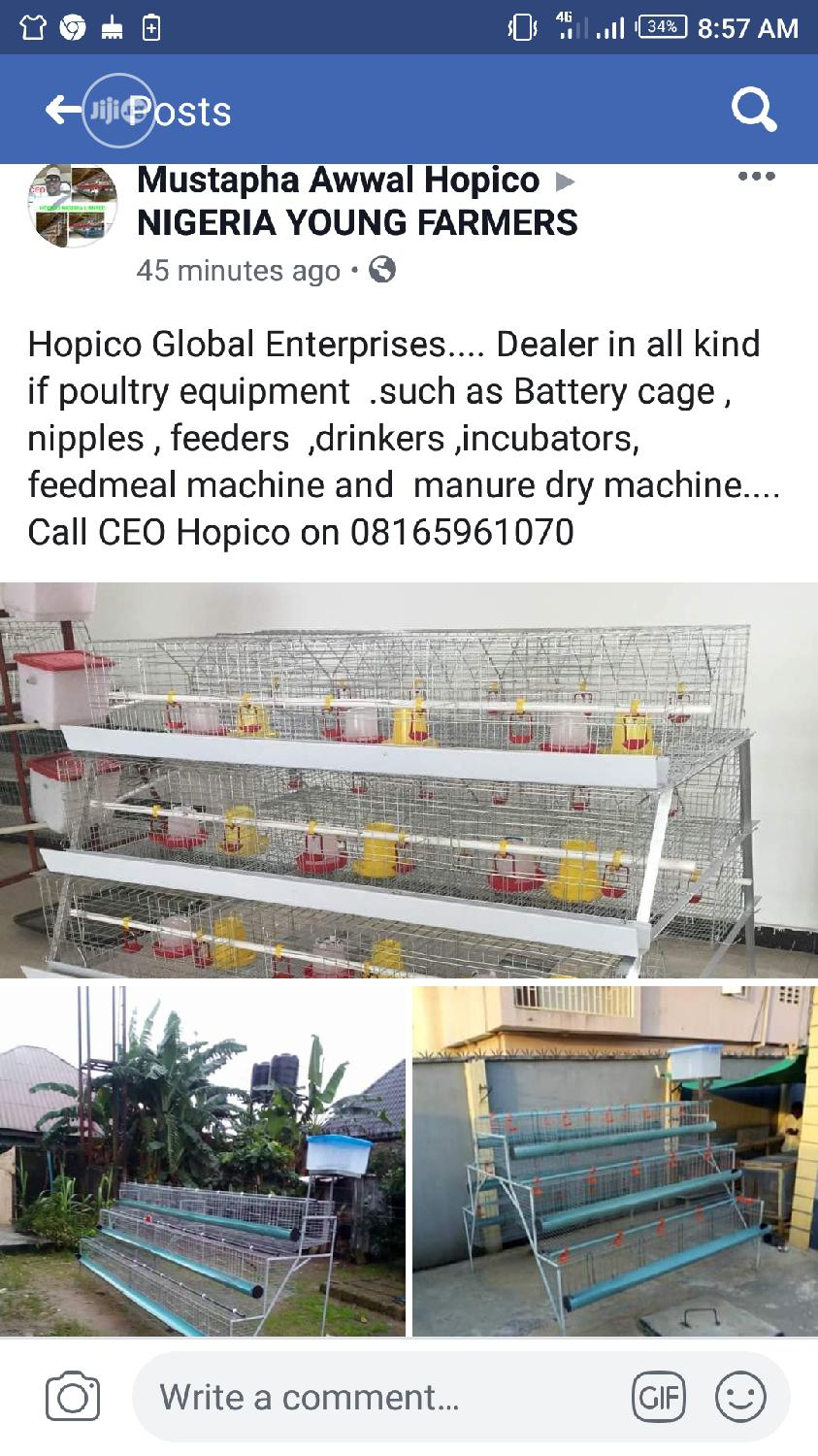 Hopico Payment On Delievery Cage | Farm Machinery & Equipment for sale in Alimosho, Lagos State, Nigeria