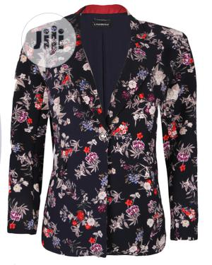 Plus Size Ladies Floral Print Blazers - Navy | Clothing for sale in Lagos State
