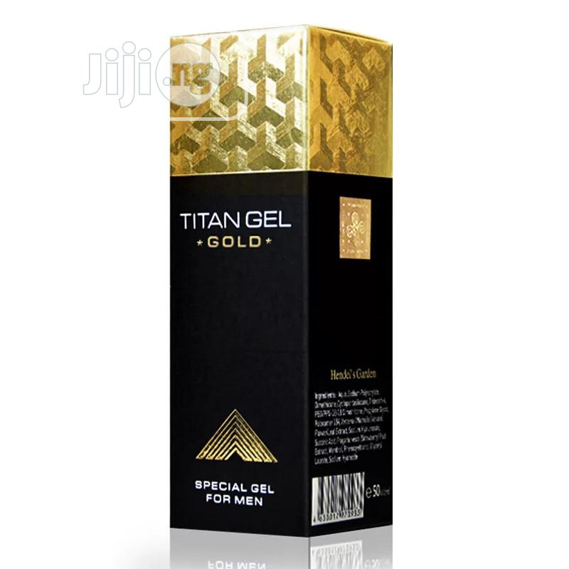 Titan Gel Gold For Penis Enlargement And Strong Erection | Sexual Wellness for sale in Shomolu, Lagos State, Nigeria