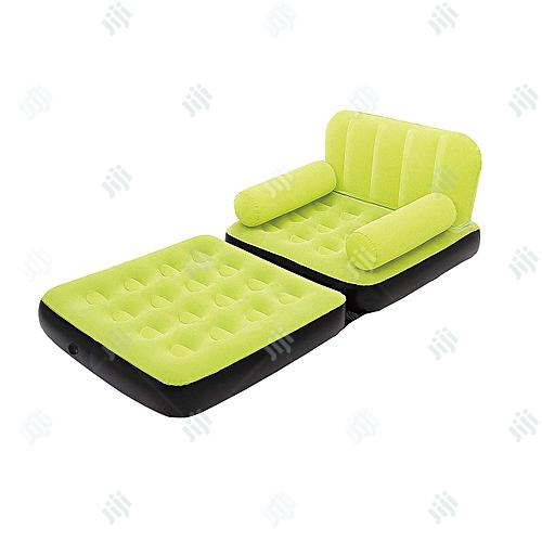 Archive: Bestway Multi-max Air Couch + Air Pump (Green Color)- Single