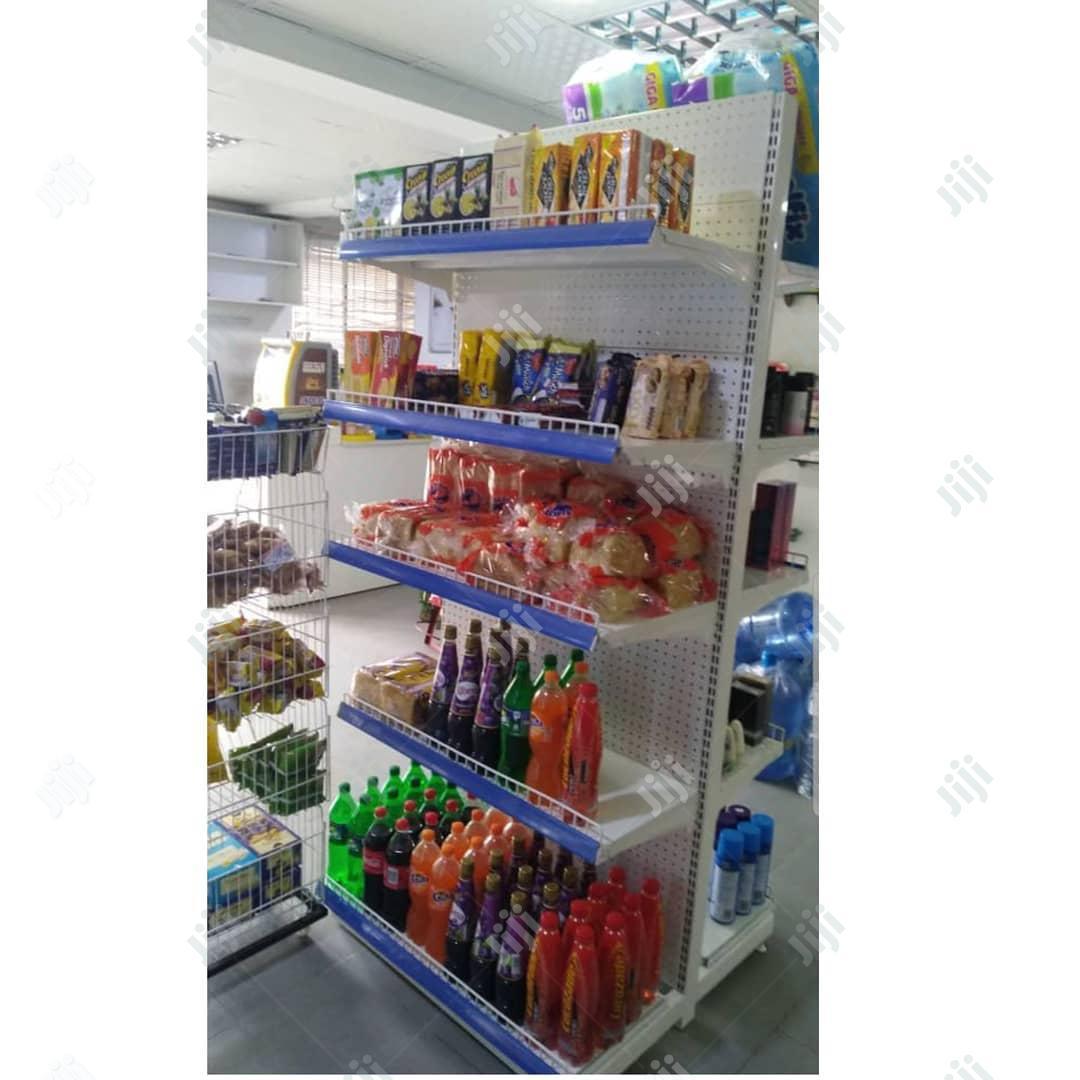 Metal Supermarket Display Rack For Beverages Drinks Stand Shelf