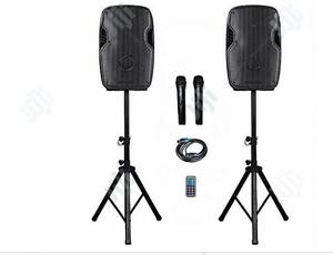 2 In 1 Rechargeable PA System With Bluetooth & Speaker Stand   Audio & Music Equipment for sale in Lagos State, Ojo
